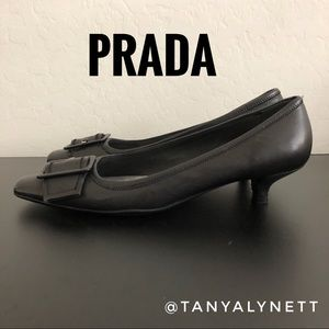 Prada black low heel